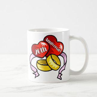 20th anniversary w coffee mug