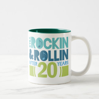 20th Anniversary Wedding Gift Two-Tone Coffee Mug