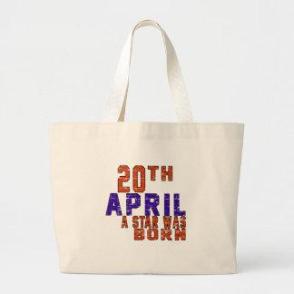 20th April a star was born Tote Bags