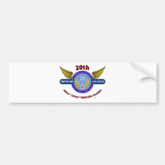 "20TH ARMY AIR FORCE ""ARMY AIR CORPS"" WW II BUMPER STICKERS"