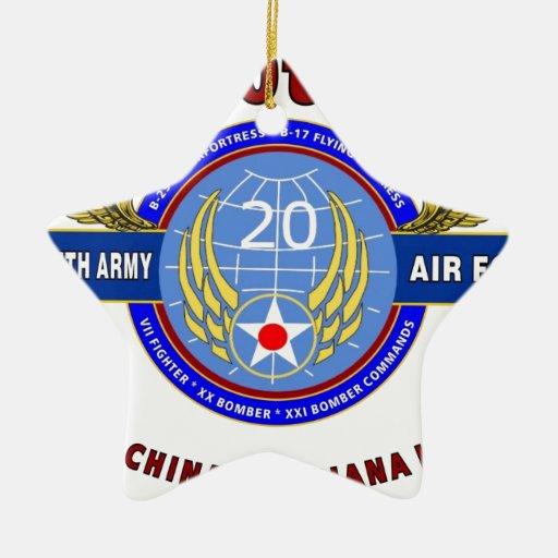 "20TH ARMY AIR FORCE ""ARMY AIR CORPS"" WW II ORNAMENTS"