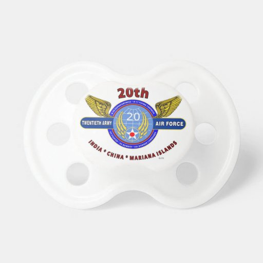 """20TH ARMY AIR FORCE """"ARMY AIR CORPS"""" WW II BABY PACIFIERS"""