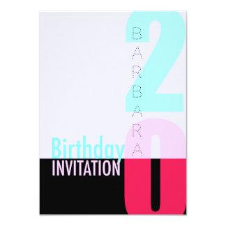 20th Birthday Celebration POP Invitation