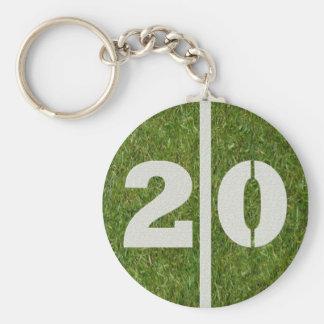 20th Birthday Party Favor Key Ring