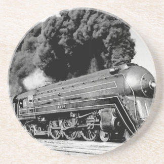 20th Century Limited Train Highball It! Vintage Beverage Coaster