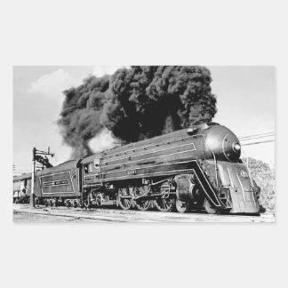 20th Century Limited Train Highball It! Vintage Rectangular Sticker