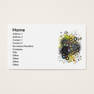 20th-Century Music Business Card