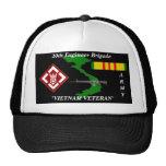 20th Engineers Brigade Vietnam Veteran Ball Caps Mesh Hats