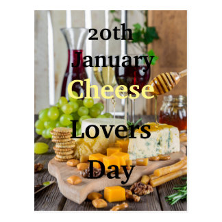 20th January Cheese Lovers Day Postcard
