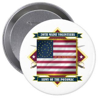 20th Maine 10 Cm Round Badge