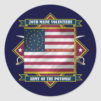 20th Maine Classic Round Sticker