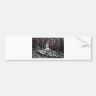 20th Maine Memorial on Little Round Top Gettysburg Bumper Sticker