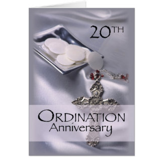 20th Ordination Anniversary Congratulations, Hosts Card