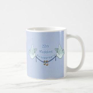 20th Wedding Anniversary Basic White Mug