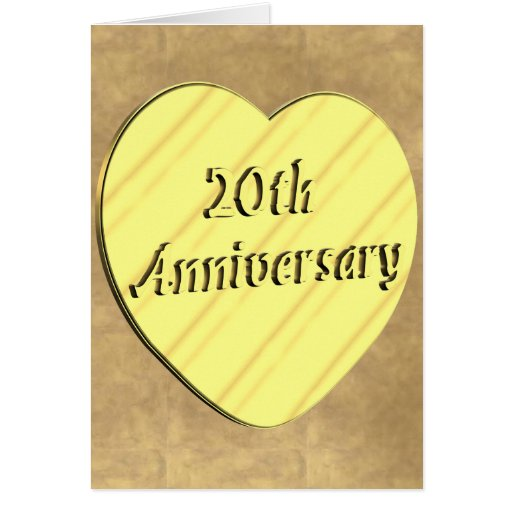 20th Wedding Anniversary Greeting Card