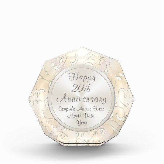 20 Year Wedding Anniversary Gift For Wife: 20th Wedding Anniversary Gift For Wife Personalise