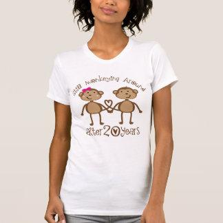 20th Wedding Anniversary Gifts Tee Shirts