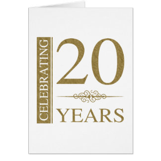 20th Wedding Anniversary Gift Ideas Uk : 20 Wedding Anniversary Greeting Cards Zazzle.co.uk
