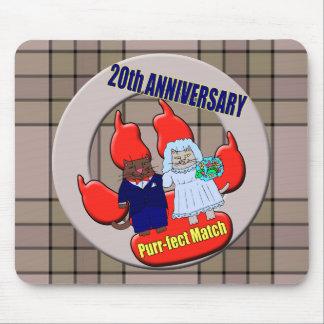 20th Wedding Anniversary Mousepads