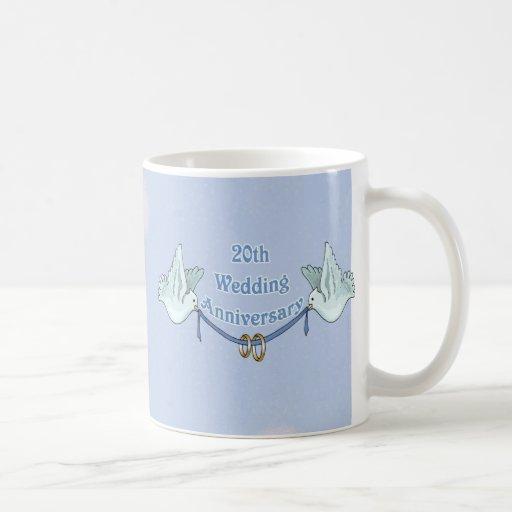 20th Wedding Anniversary Coffee Mugs