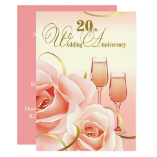 20th Wedding Anniversary Party Invitations