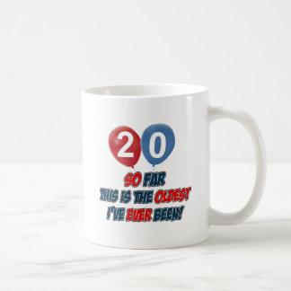 20th year birthday designs coffee mug