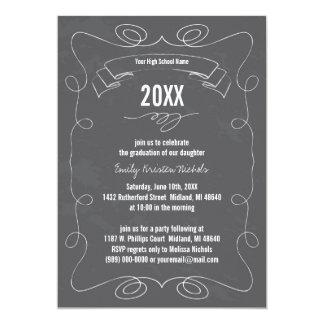 20XX Chalkboard Graduation Announcements