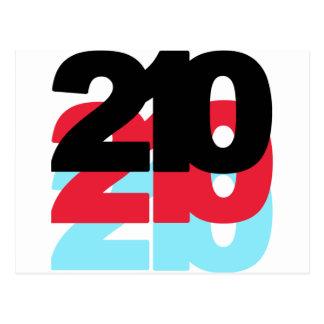 210 Area Code Postcard