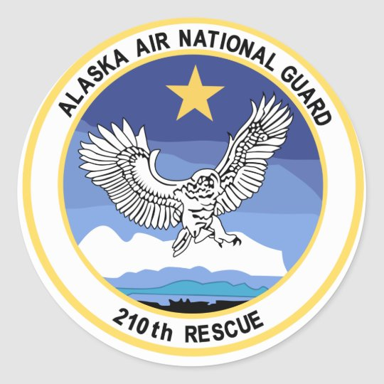 210th Rescue Squadron Detachament Classic Round Sticker
