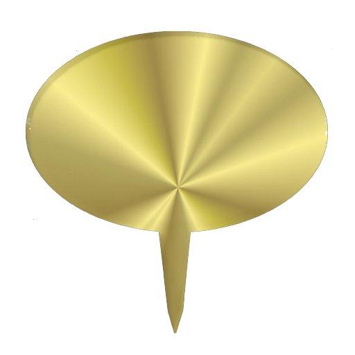 212514 GOLD GOLDEN METALLIC WALLPAPER BACKGROUND T CAKE TOPPERS
