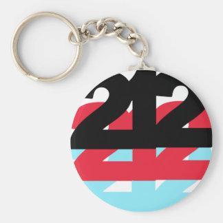 212 Area Code Key Ring
