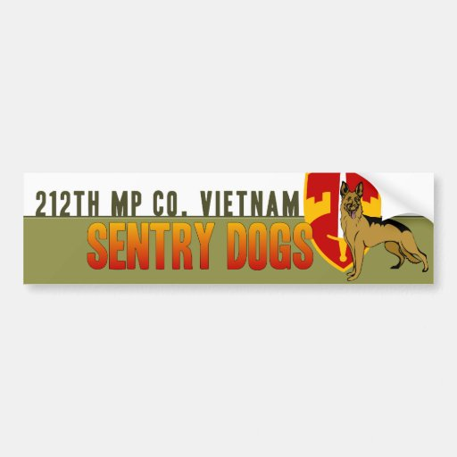 212th MP Co. Vietnam - Sentry Dogs Bumper Stickers