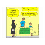 215 Atheist I'll think for you-colour cartoon