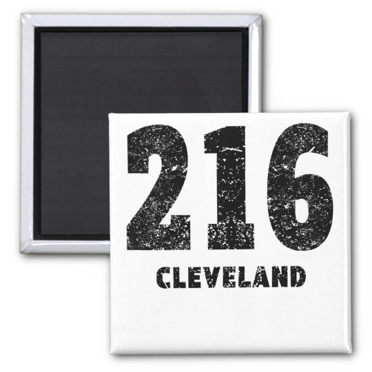 216 Cleveland Distressed Magnet