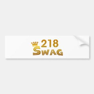 218 Minnesota Swag Bumper Sticker