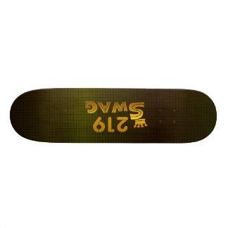 219 Area Code Swag Custom Skateboard