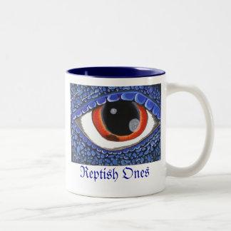 21-08-2009 blue dragon eye, Reptish Ones, Limit... Two-Tone Mug