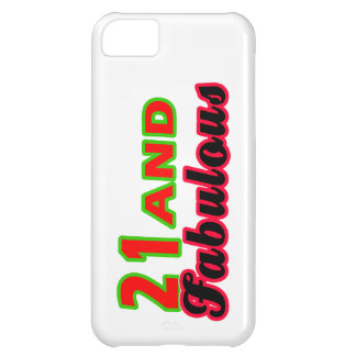 21 and Fabulous Birthday Designs iPhone 5C Cover