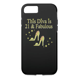 21 AND FABULOUS GOLD SHOE QUEEN DESIGN iPhone 7 CASE