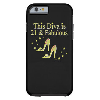 21 AND FABULOUS GOLD SHOE QUEEN DESIGN TOUGH iPhone 6 CASE