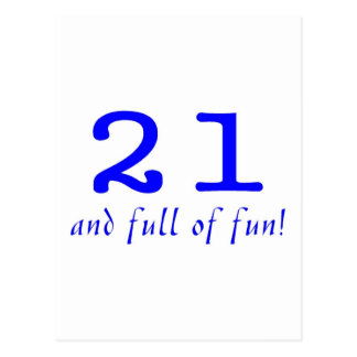 21 And Full Of Fun Blue Post Cards