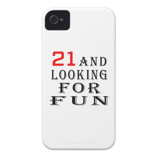 21 and looking for fun birthday designs iPhone 4 cover