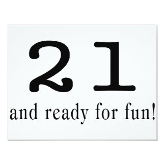 21 And Ready For Fun Personalized Announcement