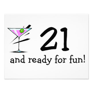 21 And Ready For Fun Martini Announcements
