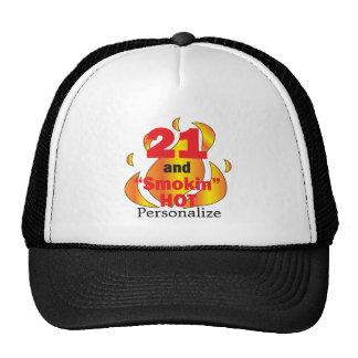 21 and Smokin Hot | 21st Birthday | DIY Name Cap