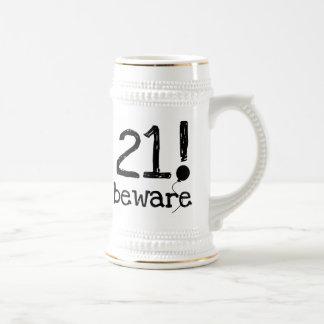 21 Beware Beer Stein