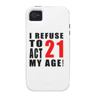21 birthday design iPhone 4/4S case