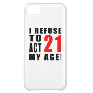 21 birthday design iPhone 5C case