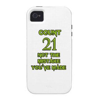 21 birthday design vibe iPhone 4 case