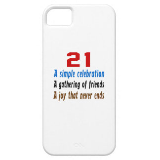 21 birthday designs barely there iPhone 5 case